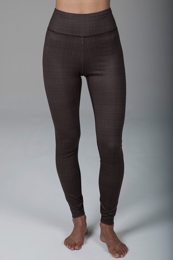 Grace Ultra High Waist Yoga Legging (Prince of Wales Plaid)