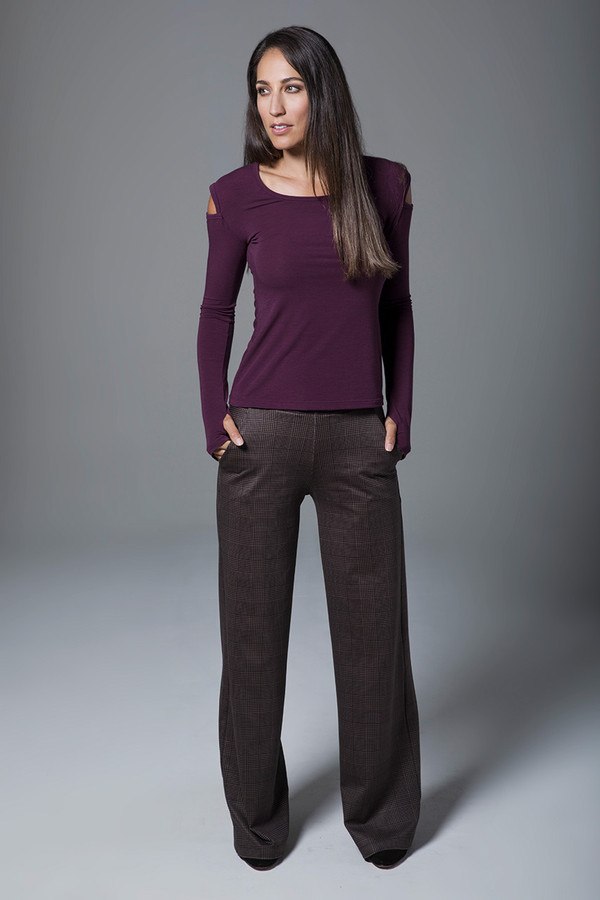 High Waist Wide Leg Pant (Prince of Wales Plaid)
