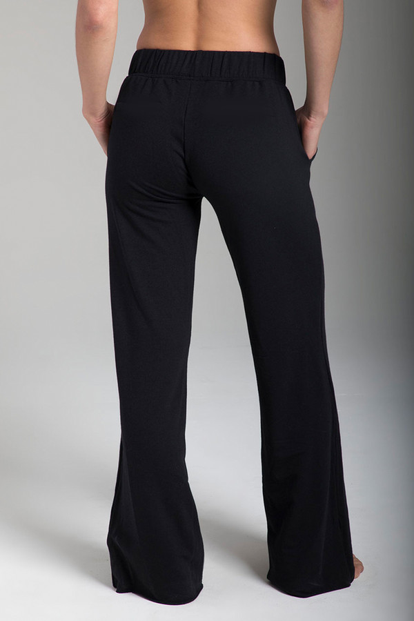 Wide-Leg Terry Yoga Sweatpant (Black)