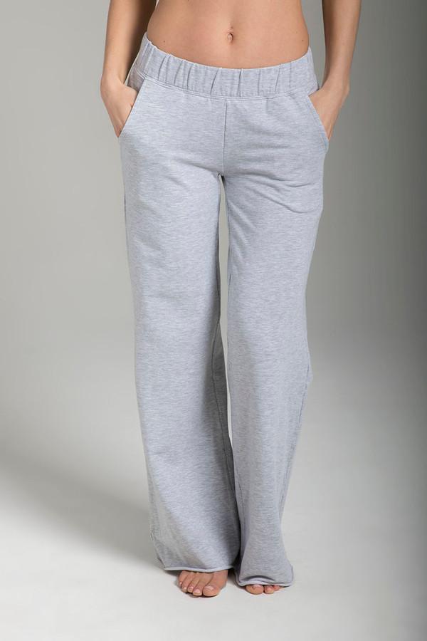 Wide-Leg Terry Yoga Sweatpant (Heather Grey