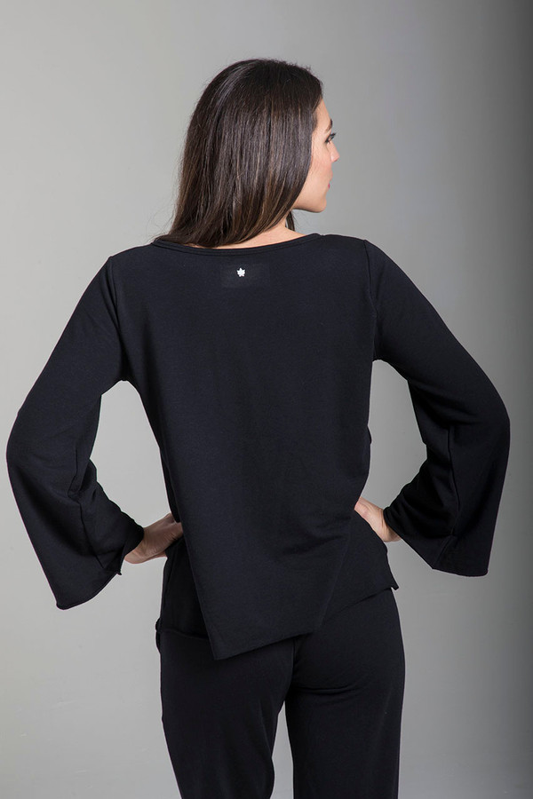 Soft Terry Sweatshirt in Black back view
