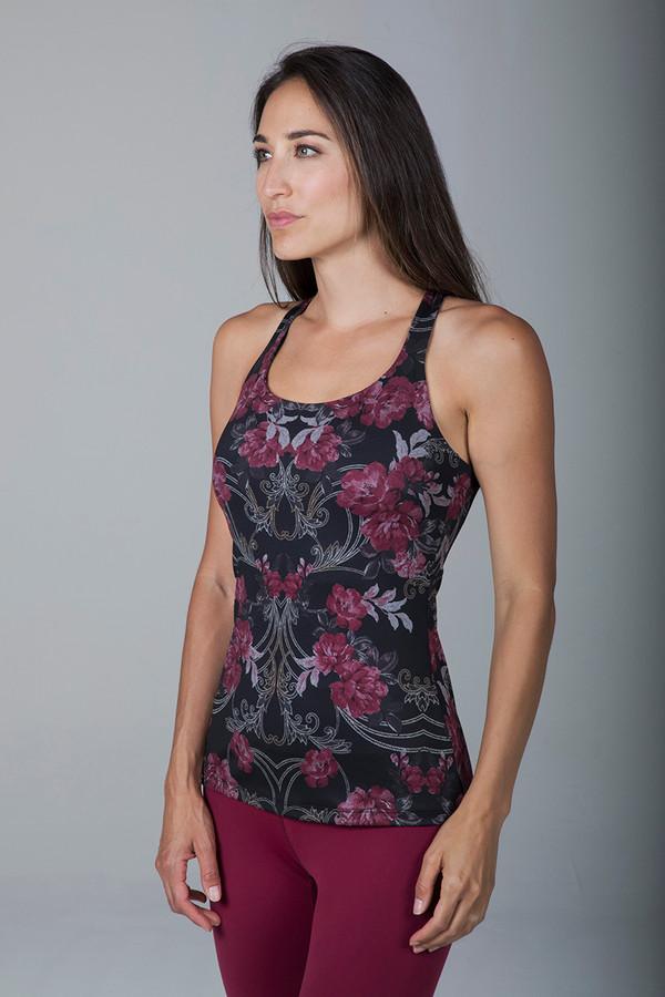 Grace Yoga Tank (Versailles Rose Print)