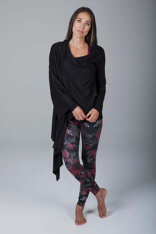 Sweater Knit Yoga Wrap (Black)