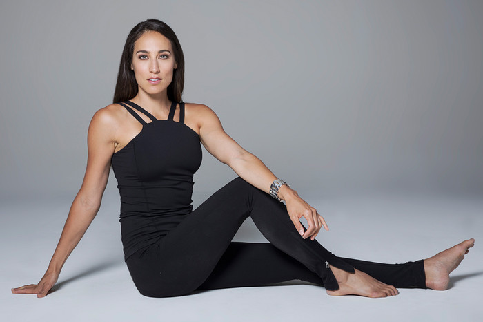 Black Long and Fitted Cami and Legging Yoga Outfit