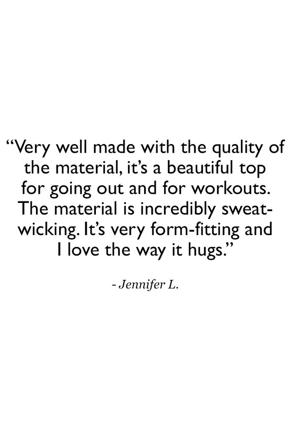 Long and Lean Cami Customer Review Quote