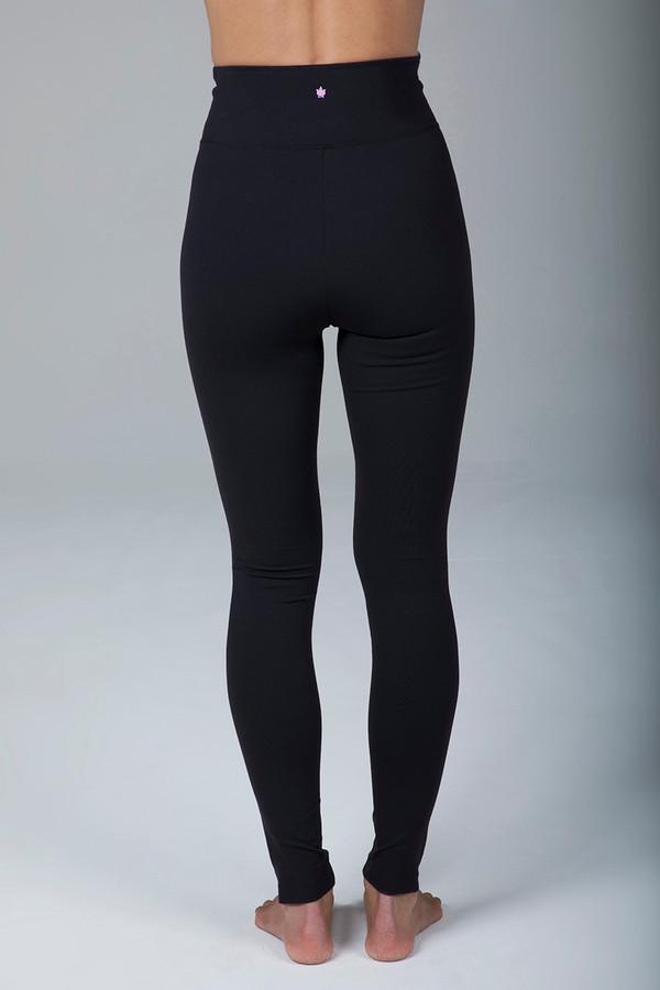 High Rise Lengthening Black Yoga Leggings back view