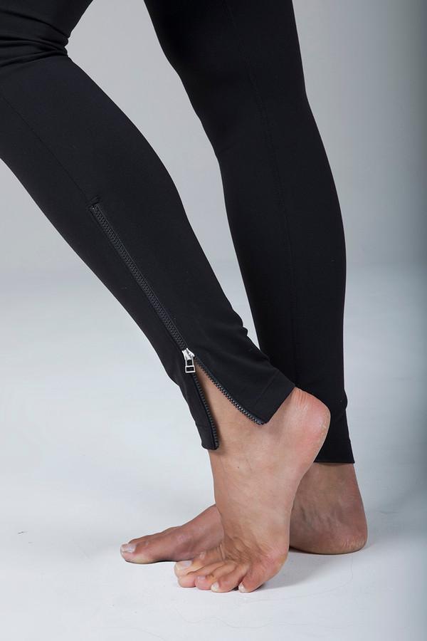 Black Yoga Leggings with Side Zipper Closures