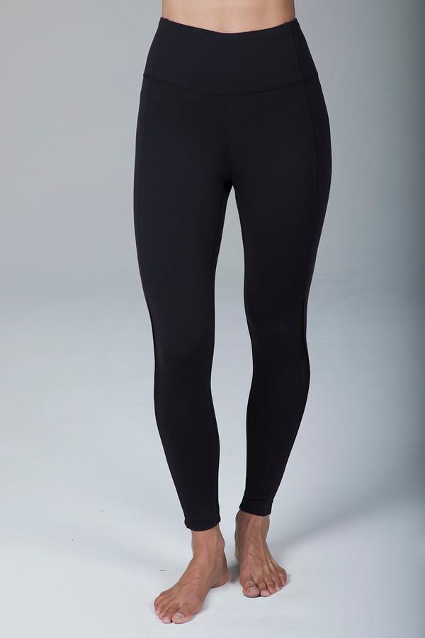 Black High Waist Yoga Leggings front view