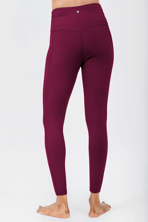 Brandy Red High Waist Yoga Tights back view