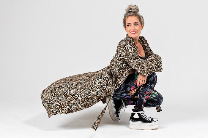Kathryn Yoga Duster (Leopard)
