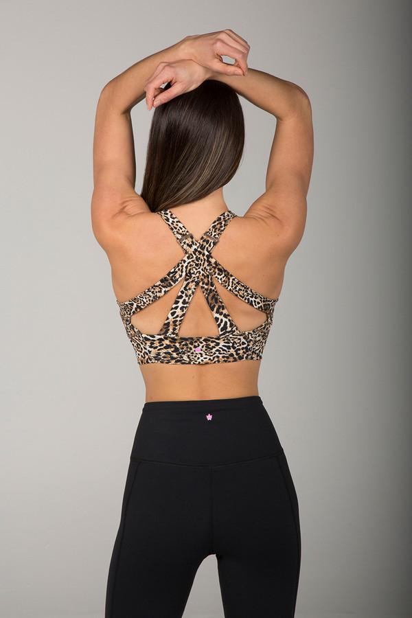 Kathryn Yoga Bra (Leopard)