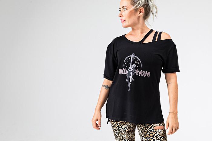 Rockstar Graphic Yoga Tee (Aim True)