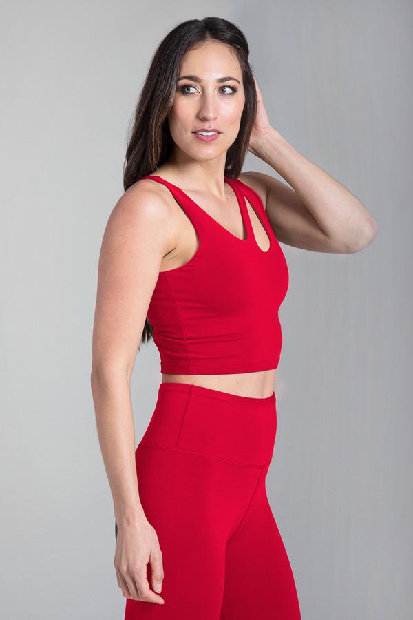 Seva Warrior Yoga Crop Top (Ruby)
