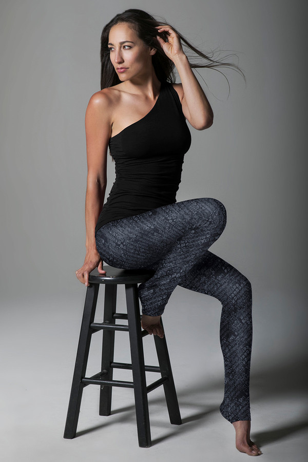 Grace Ultra High Waist Yoga Legging (Black Cobra)