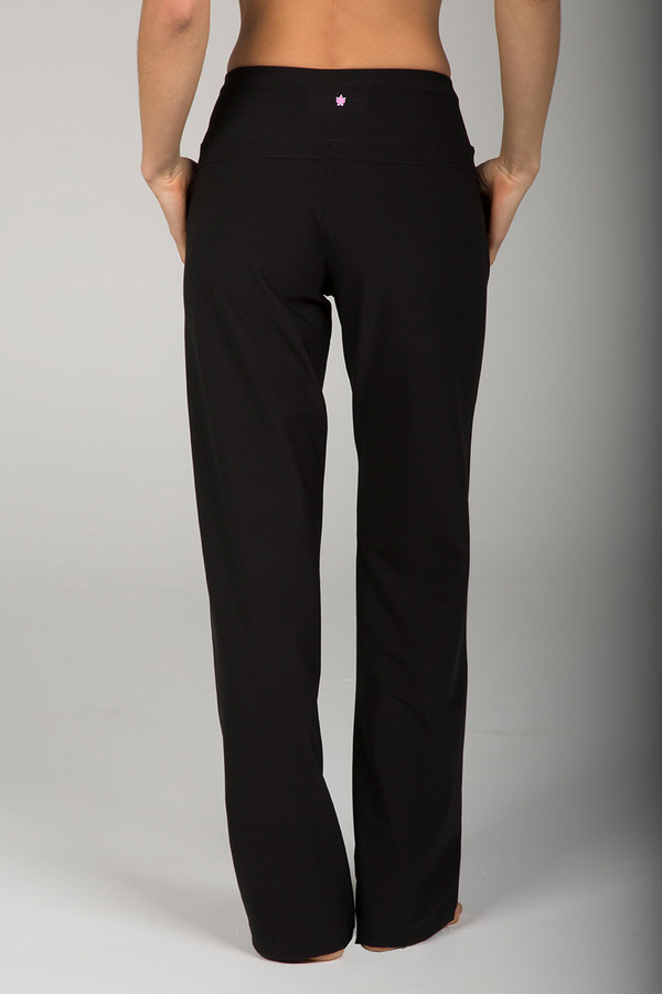 High Waist Black Yoga Dress Pant back view