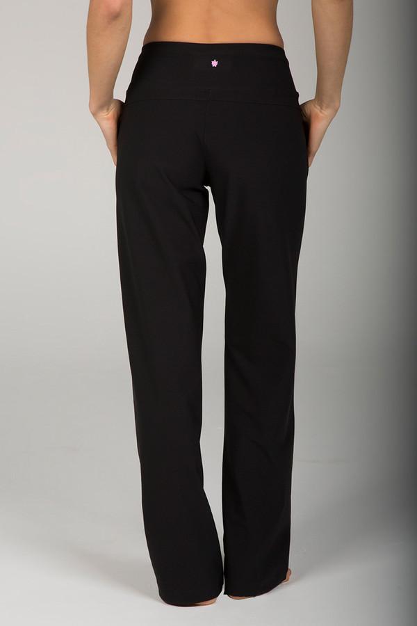 High Waist Black Yoga Dress Pant back view