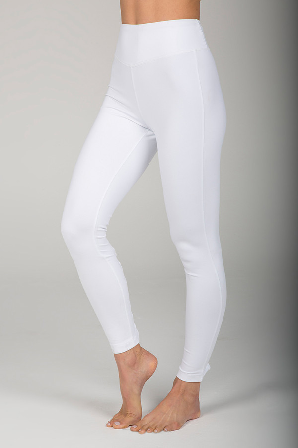 Goddess Corset Yoga Legging (White)