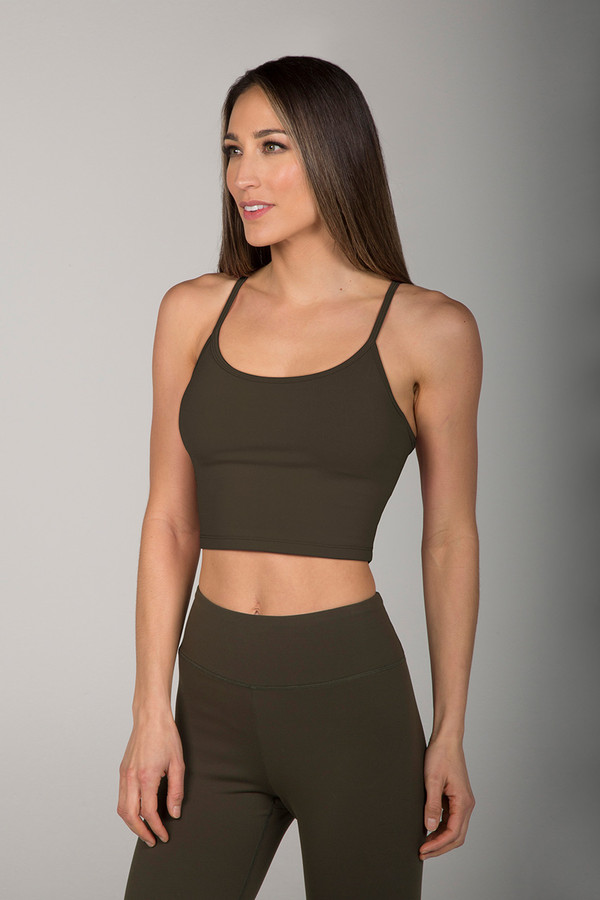 Grace En Pointe Yoga Crop Top (Forest Night)