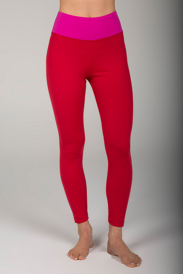 Grace Ultra High Waist 7/8 Yoga Legging (Ruby/Fuchsia)