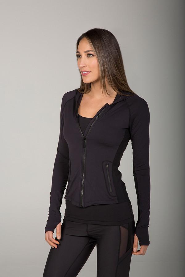 Sleek Zip-Up Jacket with Thumbholes