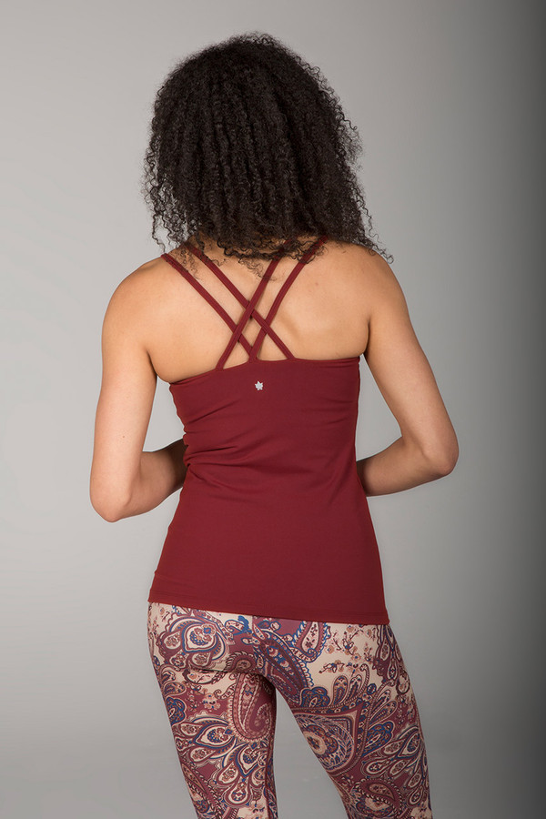 Grace Double-Strap Yoga Tank (Clay)