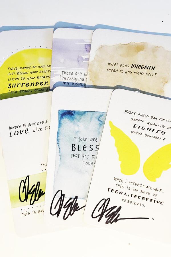 Signed Elena Brower Practice You Daily Awakening Card!