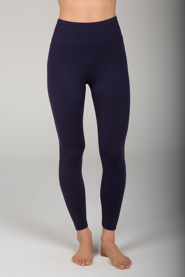 Deep Blue Ultra High Waist 7/8 Yoga Pant front view