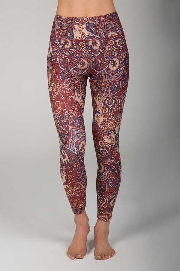 Grace Ultra High Waist 7/8 Yoga Legging (Moroccan Paisley)