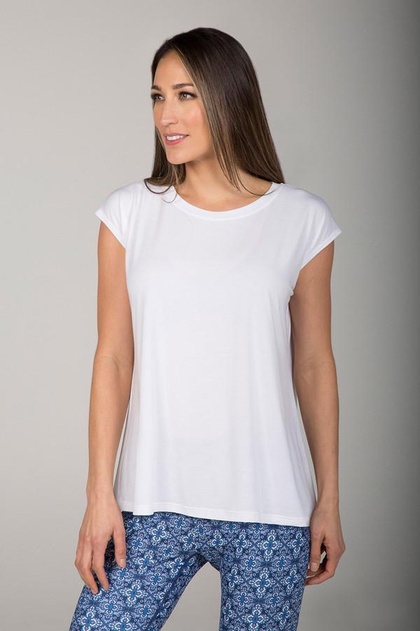 Perfect Dolman Plain White T-Shirt front view