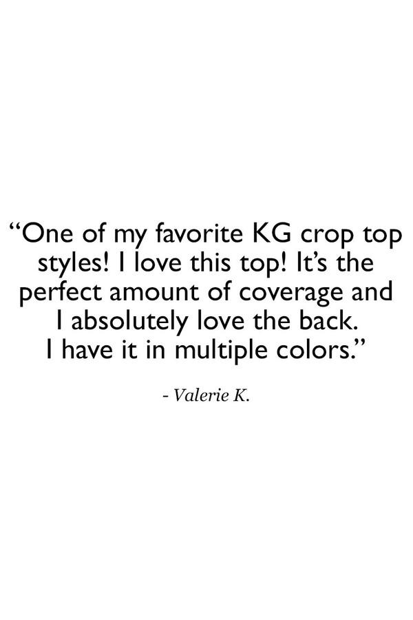 Grace Yoga Halter Crop Top Navy Customer Review Quote