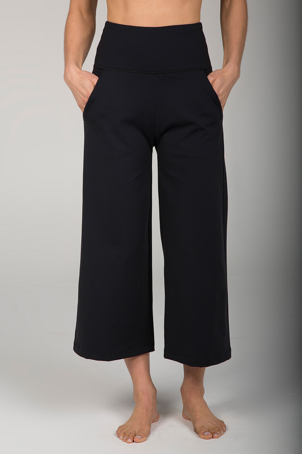 Wide Leg Crop Pant (Black)