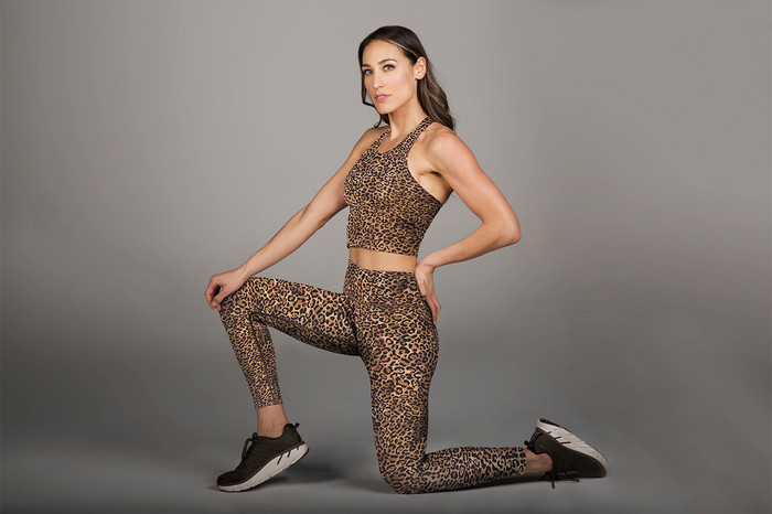 Grace Vinyasa Crop Top (Perfect Leopard)