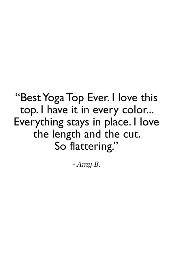 Black Grace Yoga Halter Customer Review Quote
