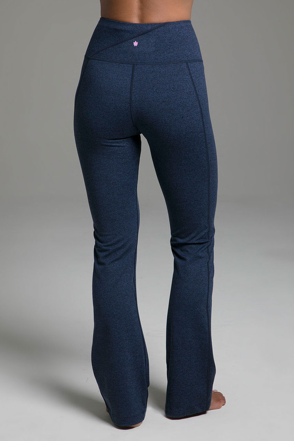 Ultra High Waist Goddess Bootcut (Iris Heather) cozy back view