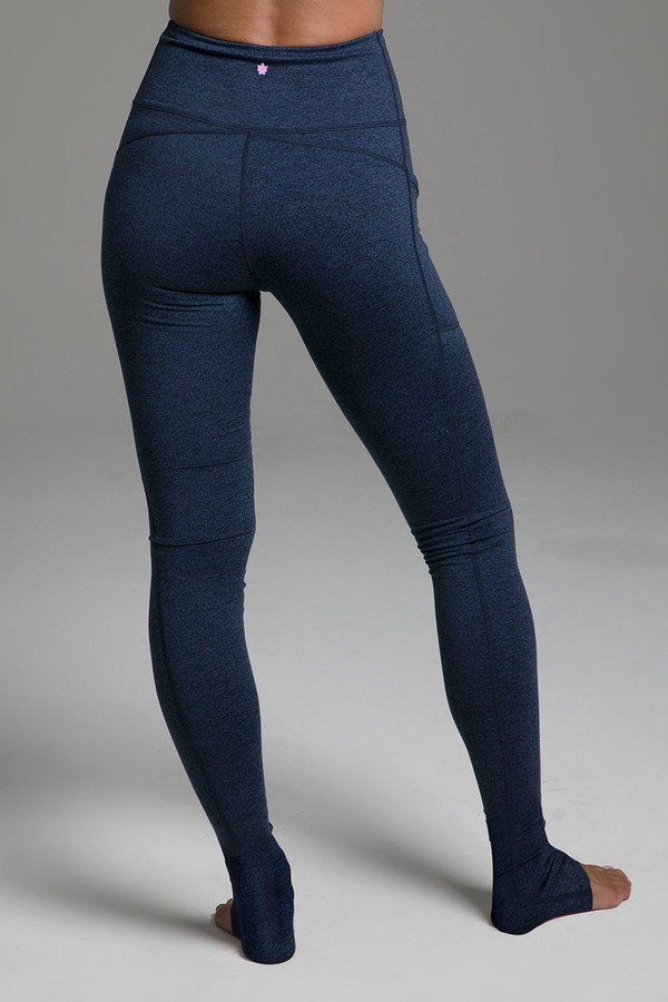 Pocket Yoga Legging (Iris Heather) cozy back view