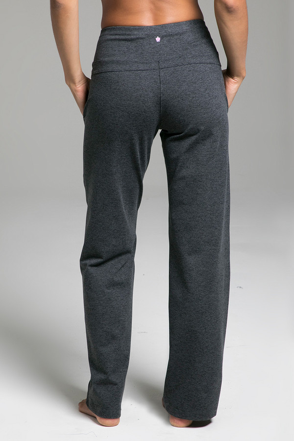 Cozy Traveler Pant (Charcoal Heather) back view with pockets