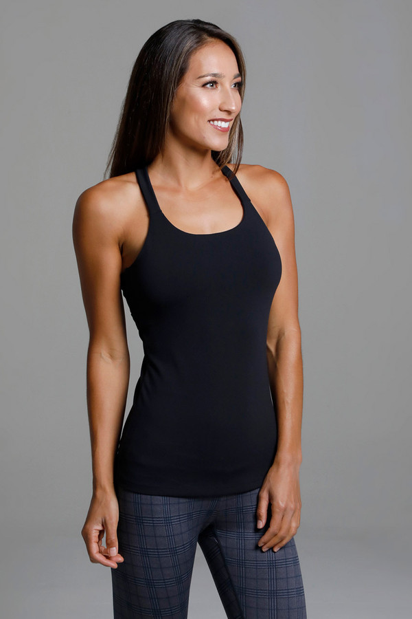 Black Activewear Supportive Yoga Top