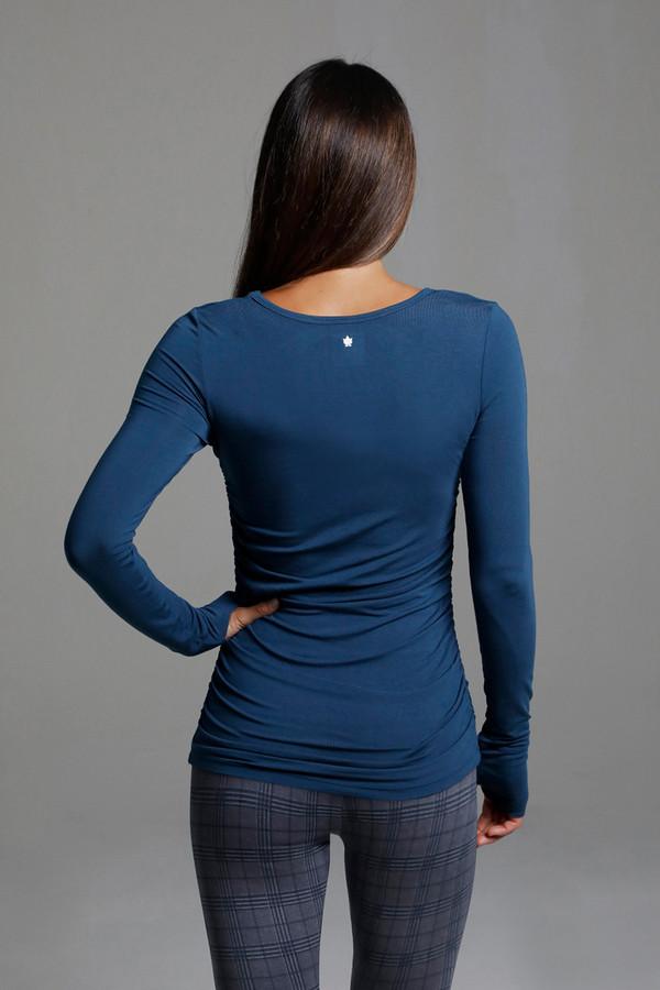 Soft Layering Yoga Long Sleeve Top in Oceana Blue