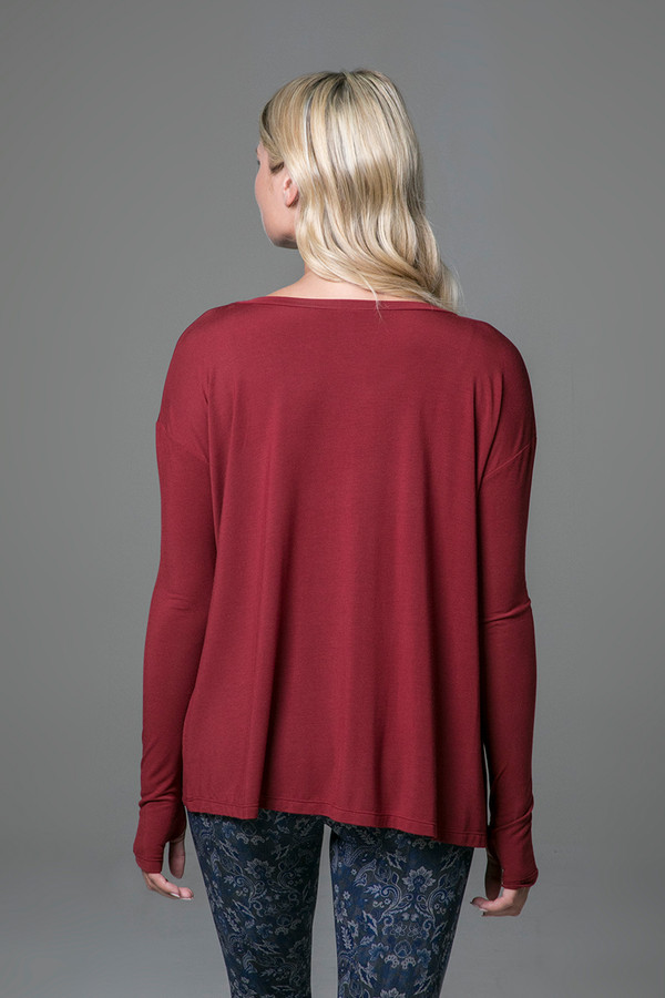 Perfect Long Sleeve Yoga Tee (Sienna) back