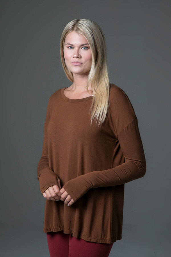 Perfect Long Sleeve Yoga Tee (Bronze) side