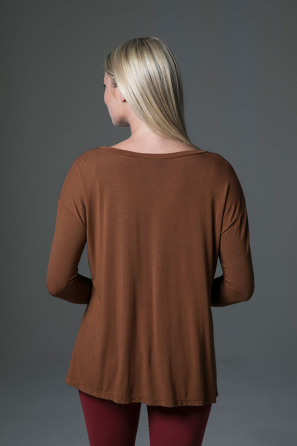 Perfect Long Sleeve Yoga Tee (Bronze) back