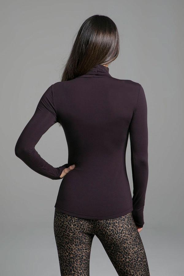 Grace Yoga Turtleneck (Mahogany) back view