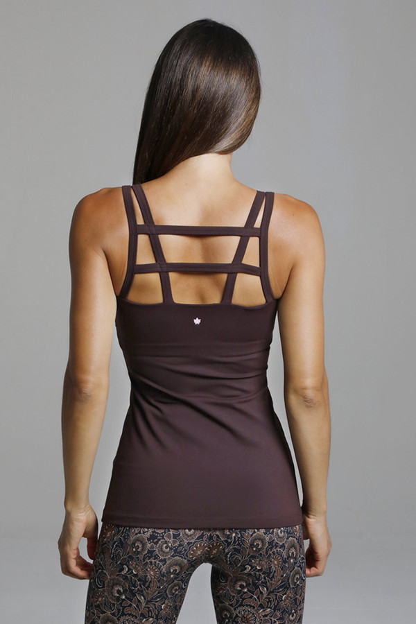 Strappy Back Yoga Tank Top back view