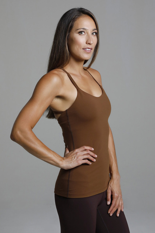 Supportive Yoga Tank with Built-in Shelf Bra