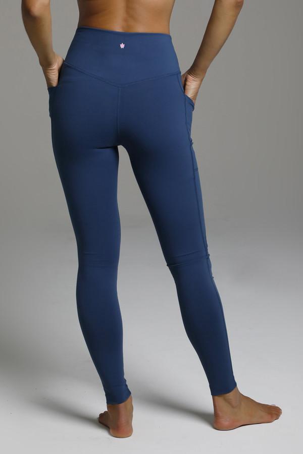 Dark Blue Compressive Yoga Bottoms
