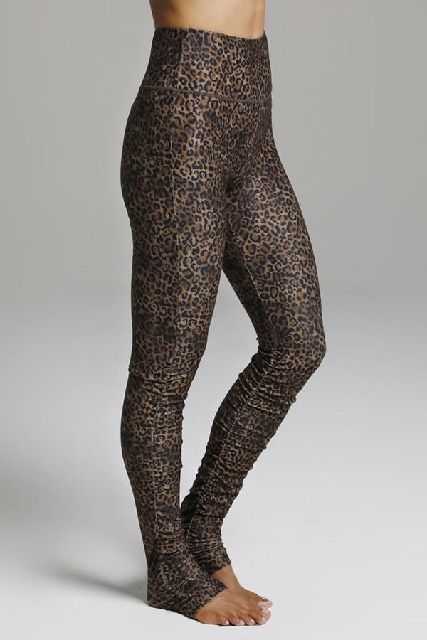 High Rise Compressive Animal Print Yoga Leggings