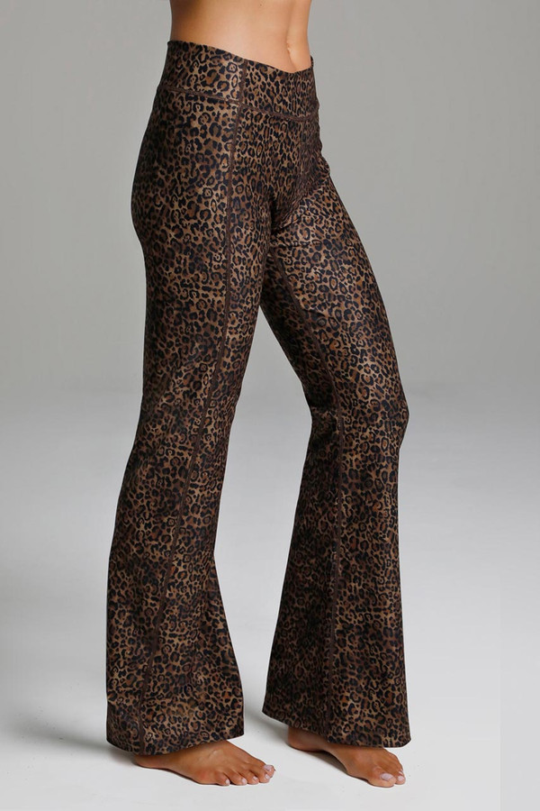 Leopard Pattern Flared Bootcut Yoga Pants