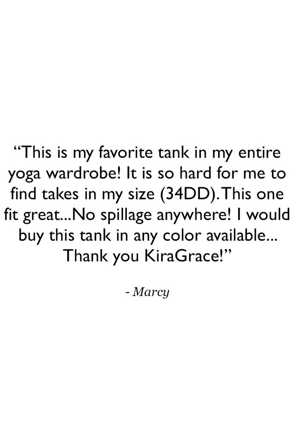 Warrior Caged Yoga Tank Customer Review Quote