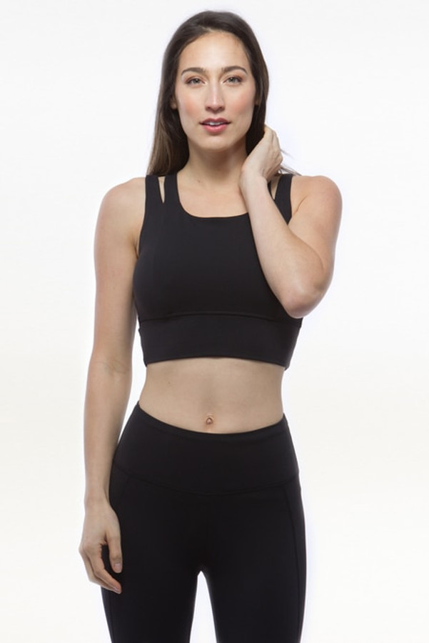 Black Grace Yoga Crop Tops Bra
