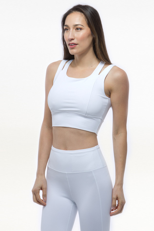 White Grace Yoga Crop Tops bra